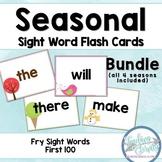 Seasonal Fry Sight Word Flashcards Bundle (First 100 Words)