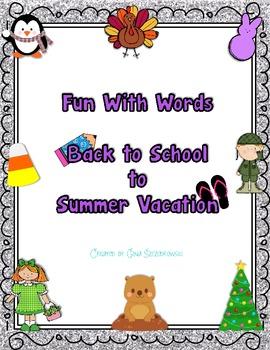 Seasonal Fun With Words