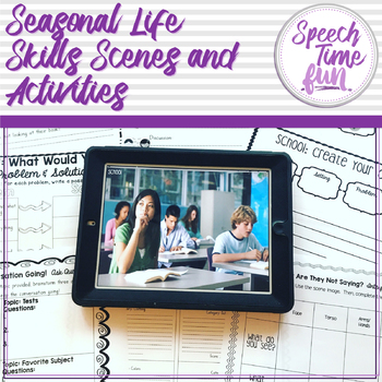 Seasonal Functional Life Skills Scenes Activities
