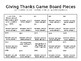 Seasonal Game Boards - Thanksgiving Unit
