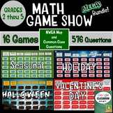Math Game Show Bundle Grades 2nd Thru 5th for NWEA MAP and Common Core Practice