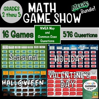 Math Game Show Bundle Grades 2nd Thru 5th for NWEA MAP and Common Core Map Math Test Scores Nd Grade on 2nd grade numbers, toddler math test, spanish math test, principal math test, computer math test, 2nd grade coloring sheets, 2nd grade quotes, 2nd grade science, teacher math test, math book math test, 2nd science test, reading test, 2nd grade spelling, 2nd grade reading, kindergarten math test, 2nd grade multiplication, 5th math test, japanese math test, 2nd grade story paper,