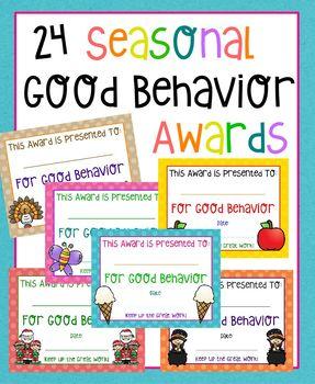 Seasonal Good Behavior Awards