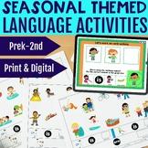 Seasonal Grammar & Vocabulary Activities BUNDLE