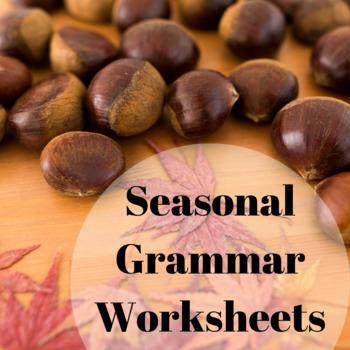 Seasonal Grammar Worksheet Bundle