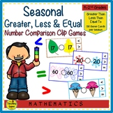 Greater Than, Less Than or Equal To Seasonal Math Games