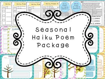Seasonal Haiku Poem Package