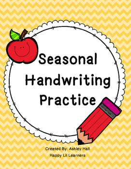 Seasonal Handwriting Practice
