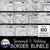 Holiday Skinny Borders Clipart MEGA Bundle