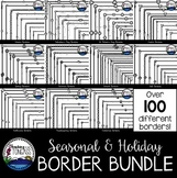Holiday Skinny Borders Clipart MEGA Bundle