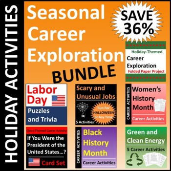 Seasonal Holiday Career Exploration BUNDLE