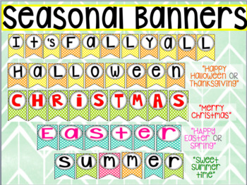 Seasonal/ Holiday Classroom banners