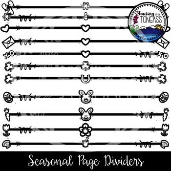 Seasonal & Holiday Dividers Clipart