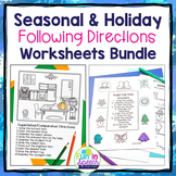 Seasonal/Holiday Following Directions Worksheets BUNDLE