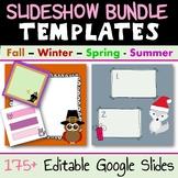 Seasonal Holiday Fun Digital Exit Tickets Bundle - Distanc