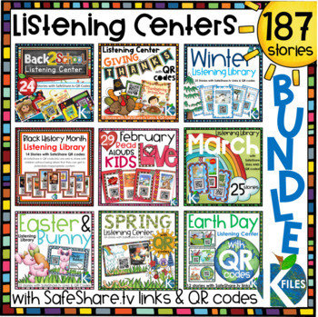 Seasonal and Holiday Listening Centers Bundle with SafeShare Links & QR Codes