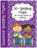 Seasonal/Holiday Spelling Papers