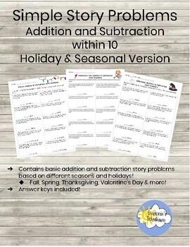 Seasonal & Holiday Story Problems