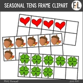 Seasonal & Holiday Tens Frames Clipart