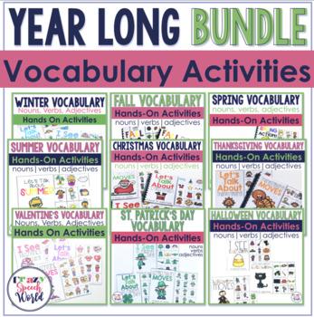 Seasonal & Holiday Vocabulary Bundle
