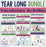 Seasonal & Holiday Vocabulary Bundle