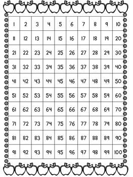 Seasonal Hundred Chart Freebie!