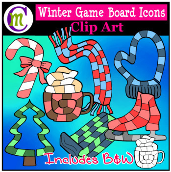 Seasonal Icons Game Board Clip Art BUNDLE CM