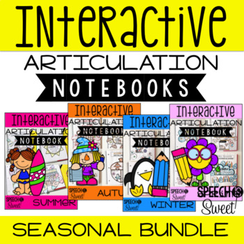 Seasonal Interactive Articulation Notebooks {Growing Bundle}