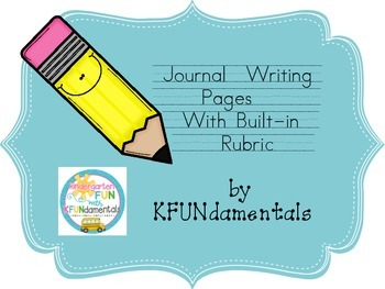 Seasonal Journal Writing Pages With Rubric Great for TK, K, or 1st