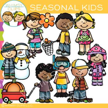 Kids Seasonal Clip Art