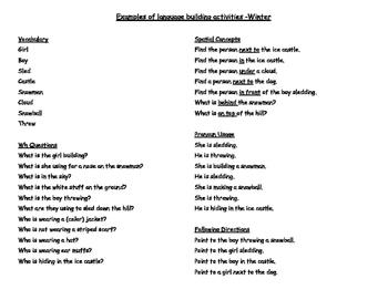Seasonal Language Building Bundle
