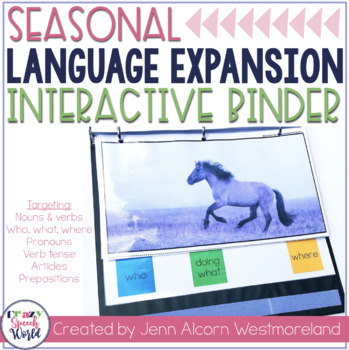 Seasonal Language Skills Interactive Binder