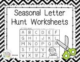 Seasonal Letter Hunt Worksheets