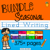 Seasonal Lined Writing Paper BUNDLE Winter, Fall, Spring, and Summer