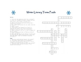 Seasonal Literary Terms Crossword Puzzle Without Word Bank