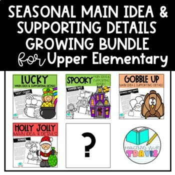 Seasonal Main Idea and Supporting Details Reading Activity BUNDLE