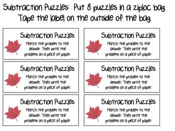 Seasonal Math Puzzles for Addition, Subtraction, & Multiplication