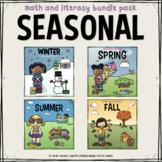 Seasonal Math and Literacy BUNDLE