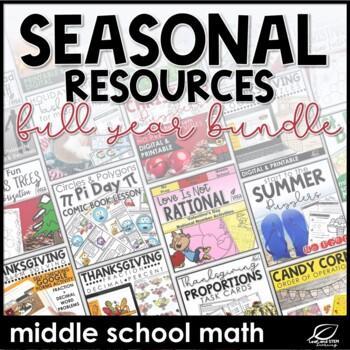Seasonal Middle School Math Bundle
