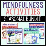 Mindfulness Activities Bundle For Seasonal Counseling And