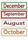 Seasonal Month Cards