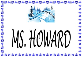 Seasonal (Monthly) Classroom Signs