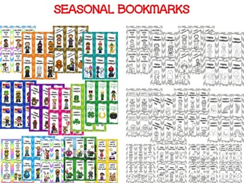 Seasonal/Monthly GREETING CARDS AND BOOKMARKS for the School Year