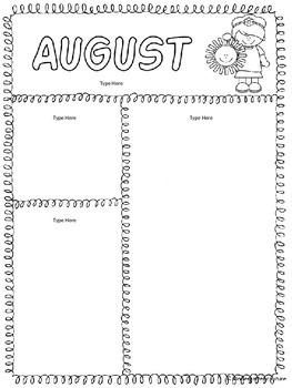 Seasonal Monthly Newsletters -EDITABLE