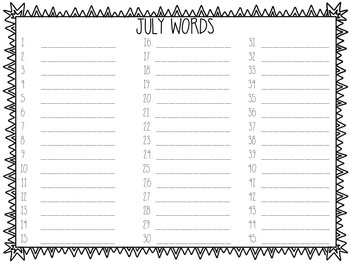 Seasonal Monthly Word Building Picture Cards