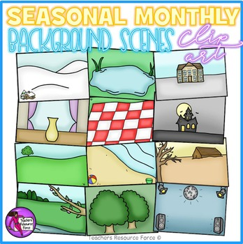 Seasonal / Monthly background scenes clipart