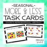 Seasonal More & Less Task Card Bundle