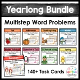 Seasonal Multistep Word Problem Task Cards Bundle