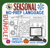 Seasonal NO PREP Language BUNDLE! Fall Winter, Spring, & S
