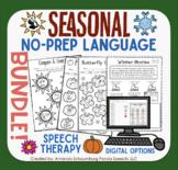 Seasonal NO-PREP Language BUNDLE! Fall Winter, Spring, & Summer